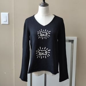 Comme des garcons/Keith Haring wool sweater